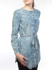 66006 Рубашка джинсовая женская (100 % хлопок)
