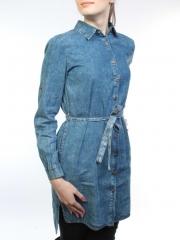 A62007 Рубашка джинсовая женская (100 % хлопок)