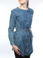 62006 Рубашка джинсовая женская (100 % хлопок)
