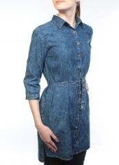 A66007 Рубашка джинсовая женская (100 % хлопок)