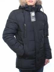 8814 Куртка Аляска мужская зимняя (холлофайбер, натуральный мех)