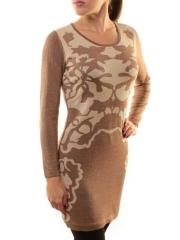 1507-12 Платье трикотажное (73% хлопок, 27% нейлон)