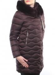 902 Пальто женское зимнее (био-пух, натуральный мех бобра)