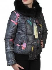 Y1076P Куртка зимняя женская (70% пух, 30% перо, натуральный мех чернобурки)