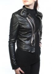 C085 Куртка женская демисезонная (искусственная кожа)